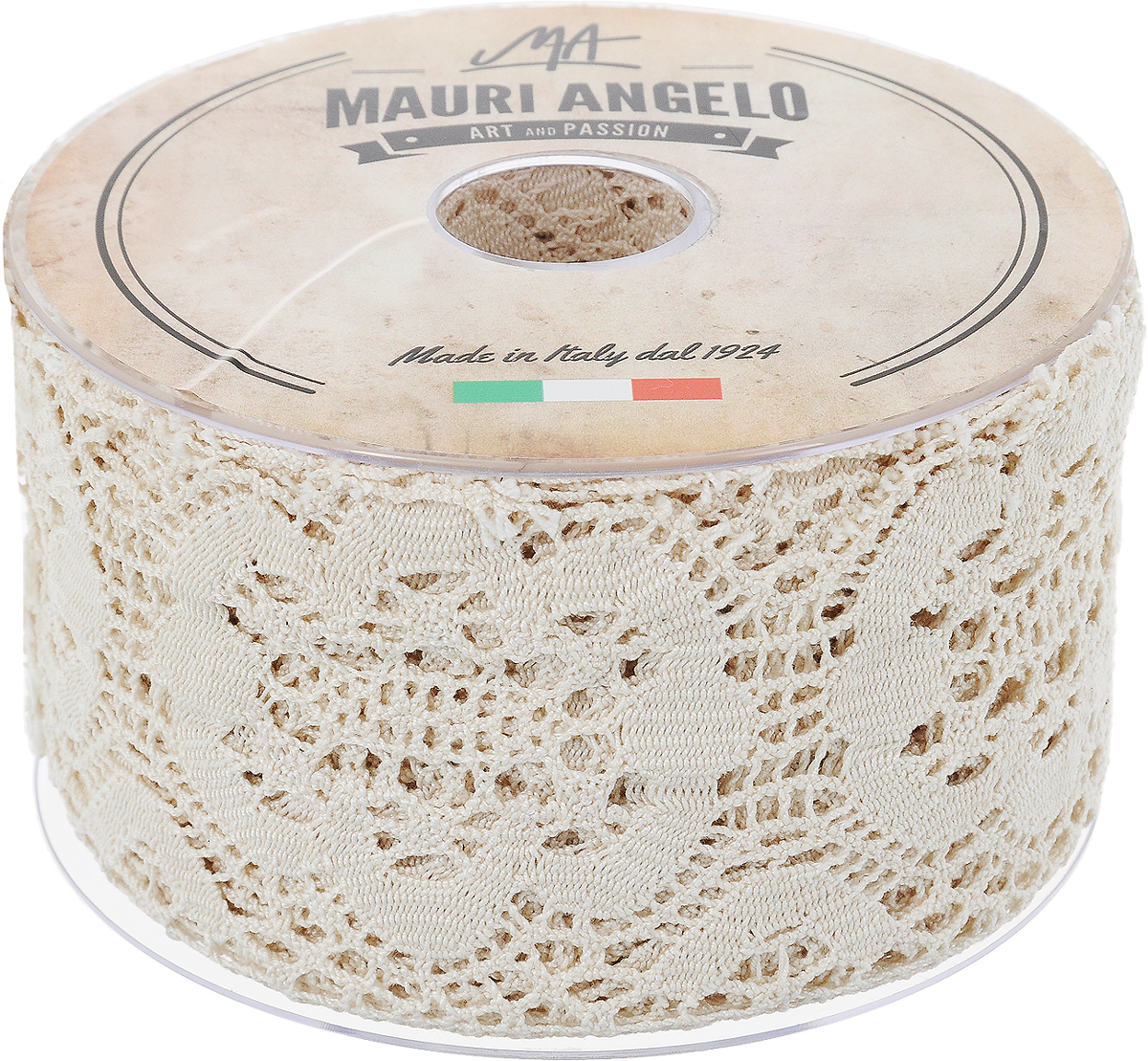 Лента кружевная Mauri Angelo, цвет: бежевый, 7,7 см х 10 мNLED-454-9W-BKДекоративная кружевная лента Mauri Angelo выполнена из высококачественного хлопка. Кружево применяется для отделки одежды, постельного белья, а также в оформлении интерьера, декоративных панно, скатертей, тюлей, покрывал. Главные особенности кружева - воздушность, тонкость, эластичность, узорность.Такая лента станет незаменимым элементом в создании рукотворного шедевра.