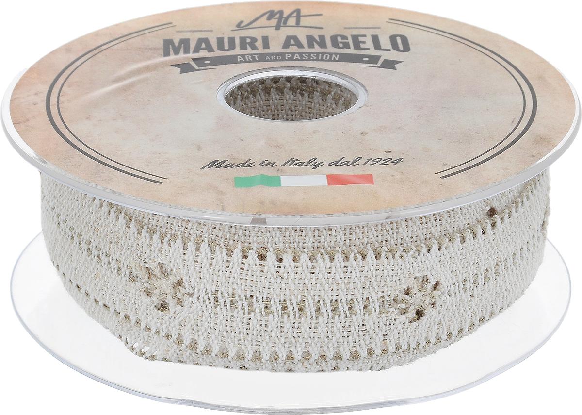 Лента кружевная Mauri Angelo, цвет: белый, бежевый, 2,8 см х 10 мC0042416Декоративная кружевная лента Mauri Angelo выполнена из высококачественных материалов. Кружево применяется для отделки одежды, постельного белья, а также в оформлении интерьера, декоративных панно, скатертей, тюлей, покрывал. Главные особенности кружева - воздушность, тонкость, эластичность, узорность.Такая лента станет незаменимым элементом в создании рукотворного шедевра.