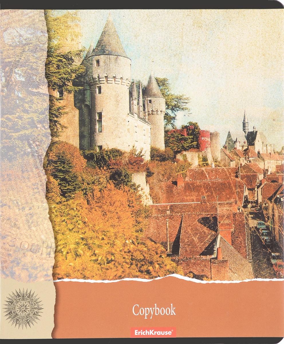 Erich Krause Тетрадь С видом на замок 96 листов в клетку цвет коричневый