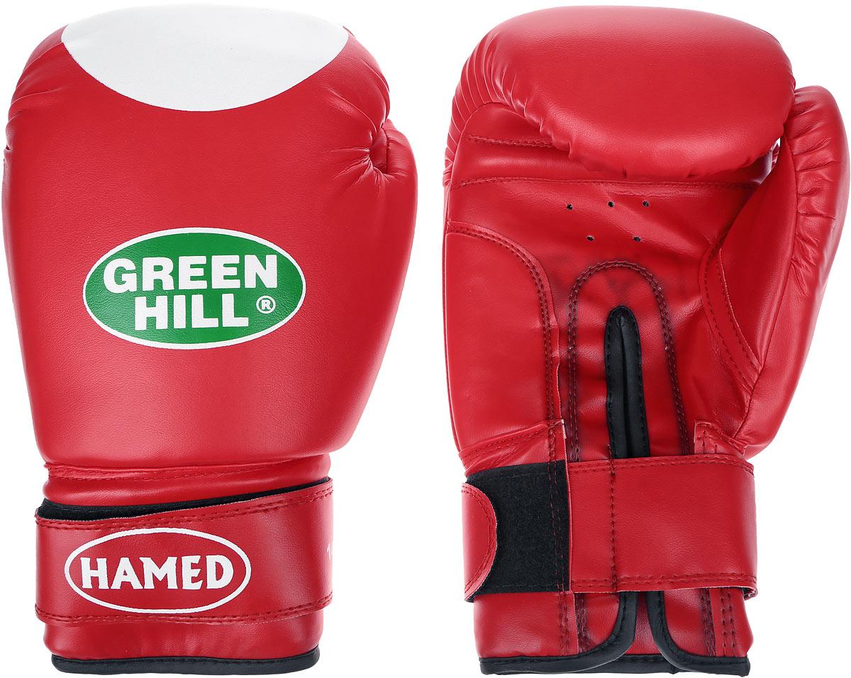 Перчатки боксерские Green Hill Hamed, цвет: красный, белый. Вес 14 унцийBGA-2024Боксерские перчатки Green Hill Hamed прекрасно подойдут для прогрессирующих спортсменов. Верх выполнен из искусственной кожи, наполнитель - из пенополиуретана. Перфорированная поверхность в области ладони позволяет создать максимально комфортный терморежим во время занятий. Широкий ремень, охватывая запястье, полностью оборачивается вокруг манжеты, благодаря чему создается дополнительная защита лучезапястного сустава от травмирования. Перчатки прекрасно сидят на руке. Застежка на липучке способствует быстрому и удобному надеванию перчаток, плотно фиксирует перчатки на руке.