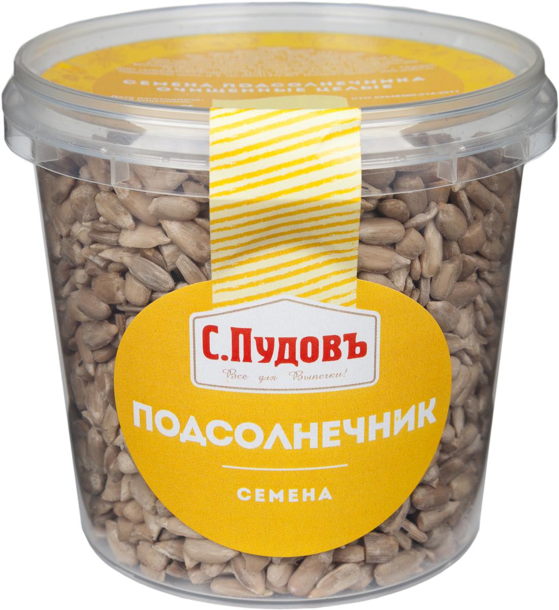 Пудовъ семена подсолнечника очищенные целые, 170 г0120710Очищенные семена подсолнечника — продукт, знакомый каждому с детства. Ядро подсолнечника богат полезными веществами и микроэлементами; он содержит фосфор, магний, кальций, калий, витамины В, D, Е. Белки, минералы, полинасыщенные жирные кислоты, которые также входят в состав семян, обладают пищевой и биологической ценностью.