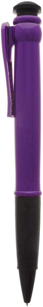Эврика Ручка шариковая цвет корпуса фиолетовый 28,5 см241128Огромная шариковая ручка Эврика поразит воображение любого, кто увидит ее впервые. Ручка автоматическая, имеет сменный стержень с синими чернилами и удобный клип, все как у ее настоящих младших собратьев. Оригинальную ручку можно использовать для подписания шуточных документов, участия в конкурсах и просто в качестве удивительного сувенира. Несмотря на ее большие размеры, писать такой ручкой довольно удобно.