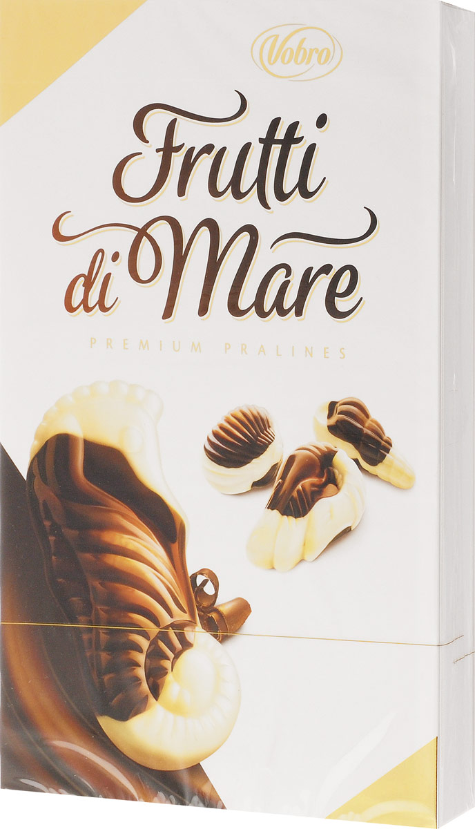 Vobro Frutti di Mare набор шоколадных конфет в виде морских ракушек, 175 г9347Шоколадные конфеты Vobro Frutti di Mare из белого и молочного шоколада с карамельной, ореховой, молочной начинкой, а также вкусом какао станут прекрасным дополнением к любому чаепитию и отличным подарком для друзей и близких.