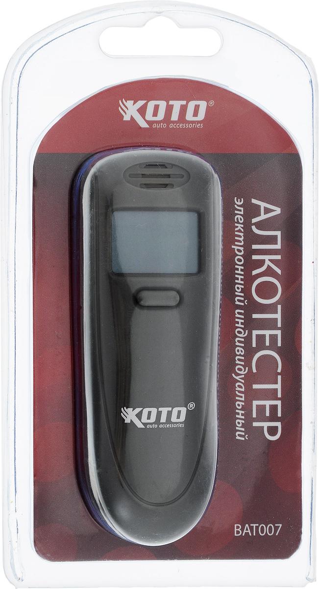 Алкотестер Kioki. BAT0072012506202008Алкотестер Kioki - анализатор паров алкоголя в выдыхаемом воздухе. Прибор пересчитывает полученные данные на концентрацию алкоголя в крови и выдает результат на жидкокристаллический дисплей. Автовыключение питания через 30 секунд.Размер алкотестера: 9 см х 3,3 см х 1 см.Диапазон измерений: 00-1,5% ВАС.Алкотестер работает от 2-х батареек типа ААА