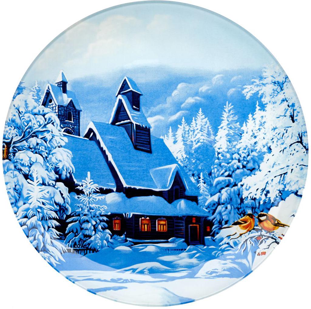 Блюдо сервировочное Walmer Winter Time, диаметр 25 см115510Сервировочное блюдо Walmer Winter Time с изображением зимнего пейзажа изготовлено из стекла. Блюдо отлично подойдет для сервировки различных блюд, например, сладостей или закусок. Интересная подача в таком необычном блюде порадует детей и ваших гостей.