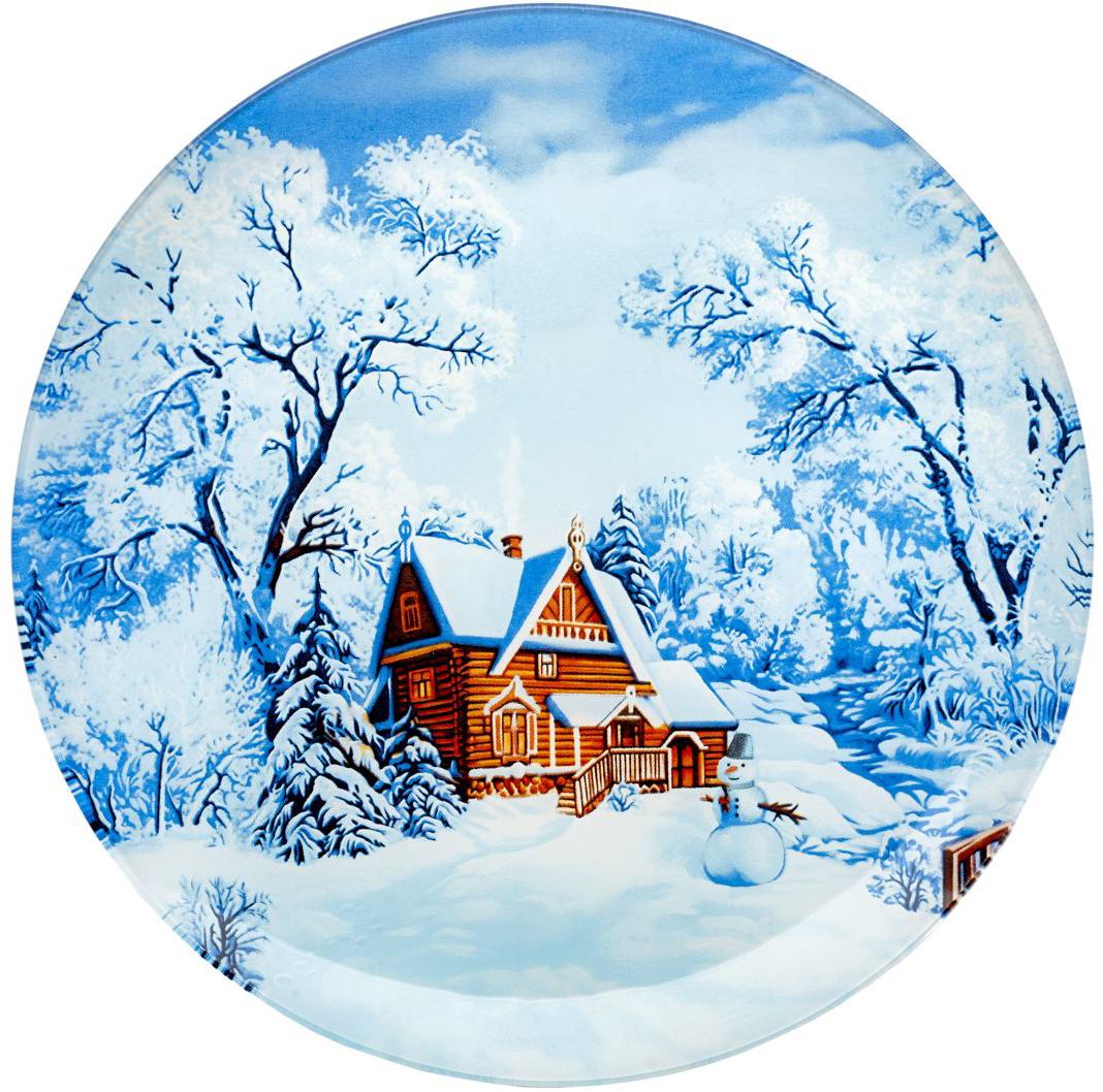 Блюдо сервировочное Walmer Snowman, диаметр 25 смVT-1520(SR)Сервировочное блюдо Walmer Snowman с изображением зимнего пейзажа изготовлено из стекла. Блюдо отлично подойдет для сервировки различных блюд, например, сладостей или закусок. Интересная подача в таком необычном блюде порадует детей и ваших гостей.
