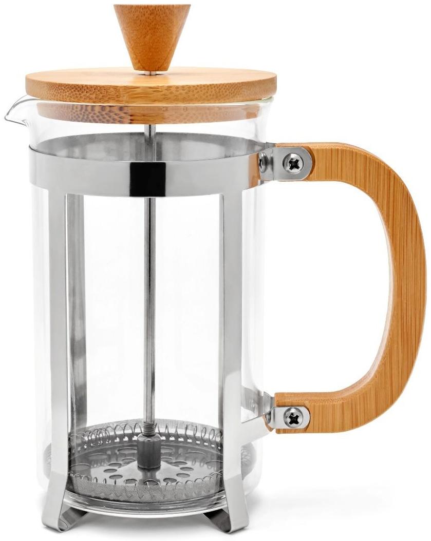 Френч-пресс Walmer Bamboo, 600 мл68/5/4Френч-пресс Bamboo используется для заваривания крупнолистового чая, кофе среднего помола, травяных сборов. Изготовлен из высококачественной нержавеющей стали и термостойкого стекла, выдерживающего высокую температуру, что придает ему надежность и долговечность. Крышка и ручка сделаны из бамбука.Можно мыть в посудомоечной машине.Объем: 600 мл.Размеры френч-пресса: 14,5 х 8 х 18,3 см.