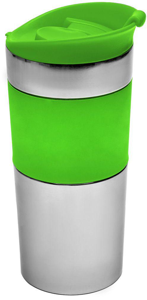 Термокружка дорожная Walmer Ribbon, 350 мл, цвет: зеленый115510Дорожная термокружка Ribbon имеет двойные стенки из нержавеющей стали, благодаря чему сохраняется температура напитка. Специальная конструкция крышки исключает проливание. Можно мыть в посудомоечной машине.Объем кружки: 350 мл.