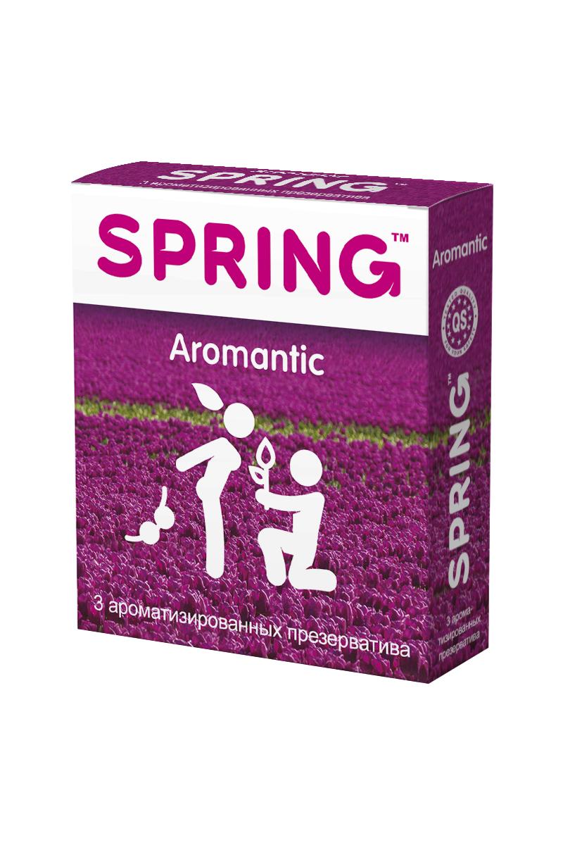 Презервативы SPRING™ Aromantic, аромтизированные, 3 шт.1092018Тонкие гладкие презервативы с силиконовой смазкой, с нежным ароматом тропических фруктов. Идеальны для использования при оральных ласках: ароматические компоненты, входящие в состав лубриканта, абсолютно безопасны