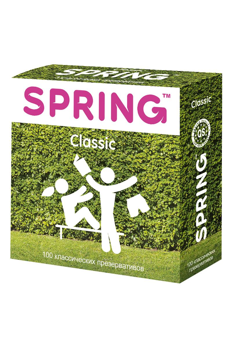 Презервативы SPRING™ Classcic, классические, 100 шт.198Гладкие нежные презервативы с оптимальным количеством гипоаллергеннои? силиконовой смазки для комфорта и безопасности обоих партнеров.