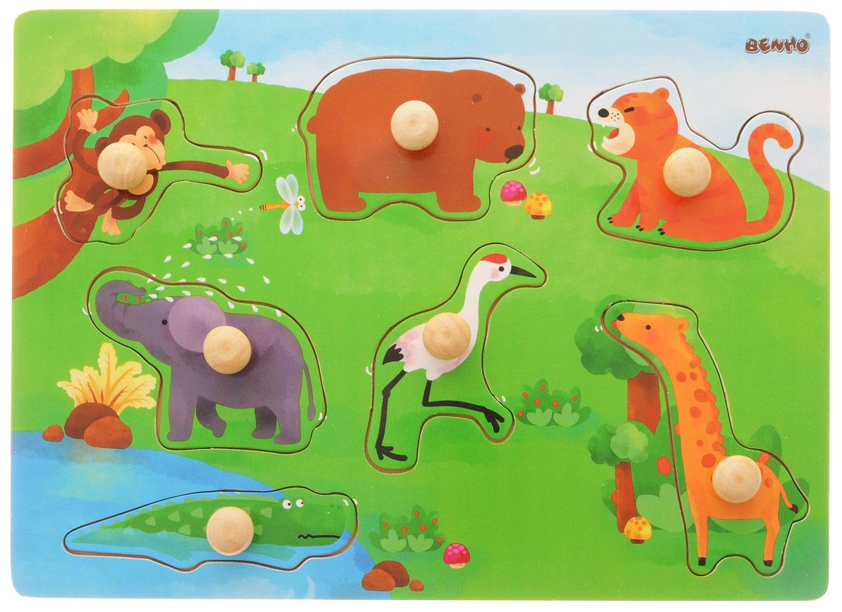 Vulpi Пазл для малышей Дикие животные развивающая игра пазл educa животные