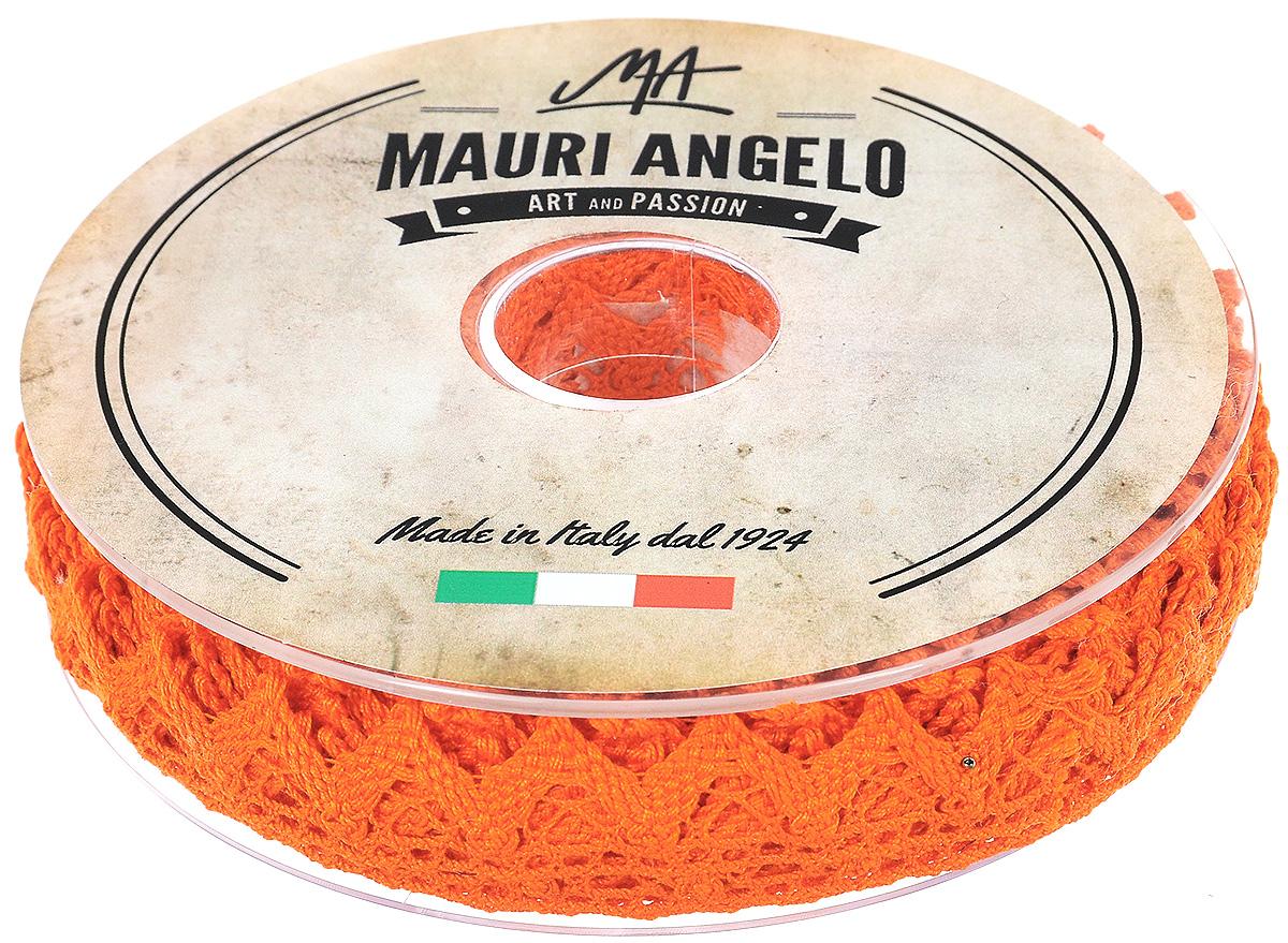 Лента кружевная Mauri Angelo, цвет: оранжевый, 1,8 см х 20 мC0042416Декоративная кружевная лента Mauri Angelo выполнена из высококачественного хлопка. Кружево применяется для отделки одежды, постельного белья, а также в оформлении интерьера, декоративных панно, скатертей, тюлей, покрывал. Главные особенности кружева - воздушность, тонкость, эластичность, узорность.Такая лента станет незаменимым элементом в создании рукотворного шедевра.