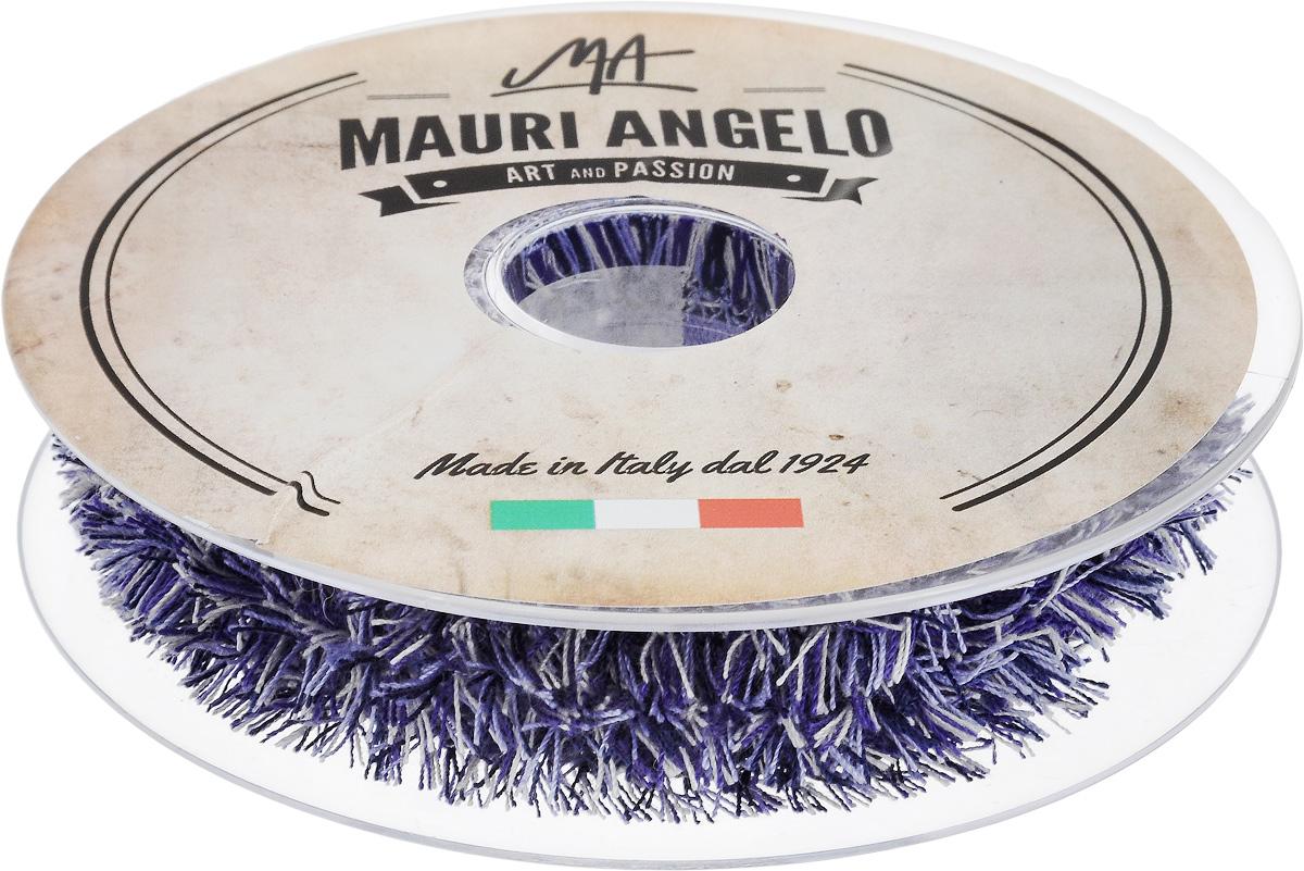 Лента декоративная Mauri Angelo, цвет: сиреневый, белый, черный, 1,7 см х 10 мNLED-454-9W-BKДекоративная лента Mauri Angelo выполнена из высококачественных материалов. Кружево применяется для отделки одежды, постельного белья, а также в оформлении интерьера, декоративных панно, скатертей, тюлей, покрывал. Главные особенности кружева - воздушность, тонкость, эластичность, узорность.Такая лента станет незаменимым элементом в создании рукотворного шедевра.