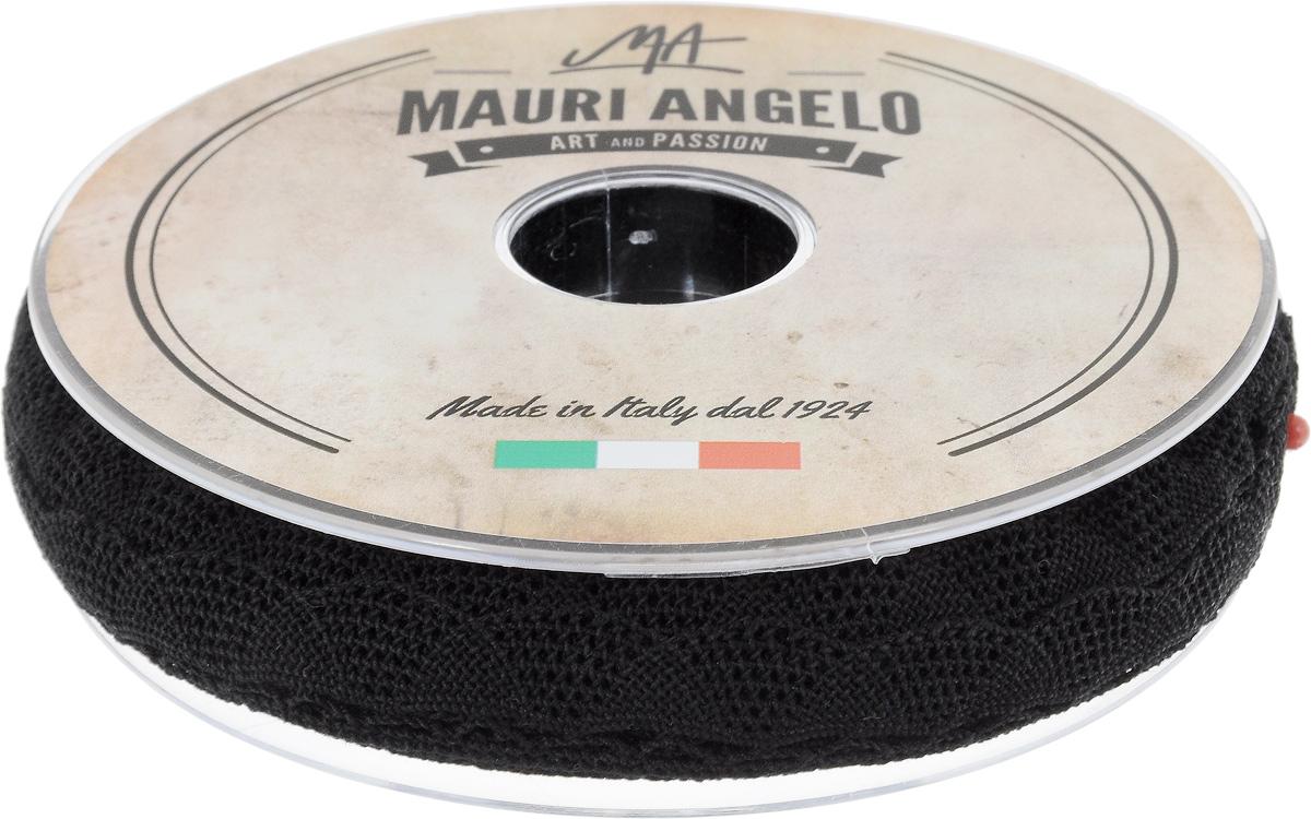 Лента кружевная Mauri Angelo, цвет: черный, 2 см х 20 м19201Декоративная кружевная лента Mauri Angelo выполнена из высококачественного хлопка. Кружево применяется для отделки одежды, постельного белья, а также в оформлении интерьера, декоративных панно, скатертей, тюлей, покрывал. Главные особенности кружева - воздушность, тонкость, эластичность, узорность.Такая лента станет незаменимым элементом в создании рукотворного шедевра.