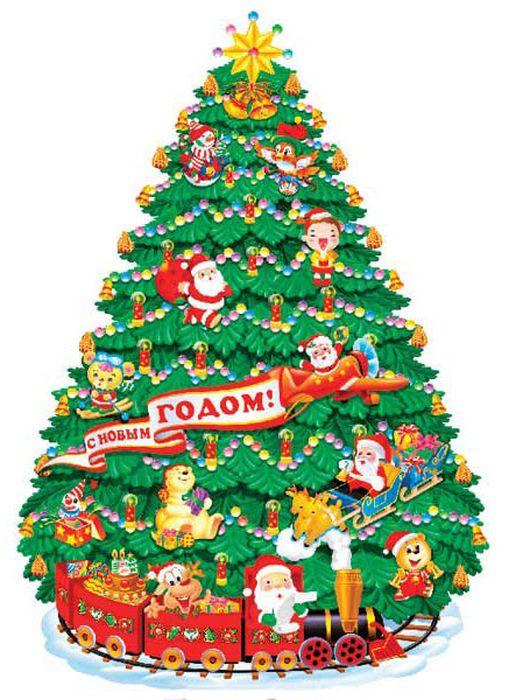 Панно Winter Wings Новогодняя елка, 87 х 117 см. N09102N09367Панно НОВОГОДНЯЯ ЕЛКА, 87х117 см, 1 шт., картон