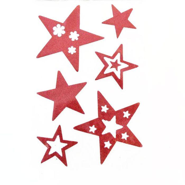 Наклейка-панно декоративная Winter Wings Звездочки, 20 х 30 см. N09222 наклейки на окна наклейка панно новый год гелевая 20 20 см winter wings