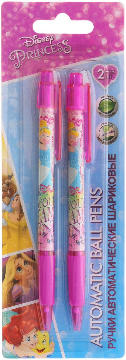 Disney Princess Набор шариковых ручек цвет чернил синий 2 шт72523WDАвтоматические шариковые ручки Disney Princess станут незаменимым атрибутом в учебе любой школьницы. Каждая ручка снабжена резиновым упором для пальцев, который обеспечивает комфортное письмо. Подача стержня производится путем нажатия на кнопку в верхней части ручки. Качественный пишущий узел.В наборе две ручки со стержнями синего цвета.