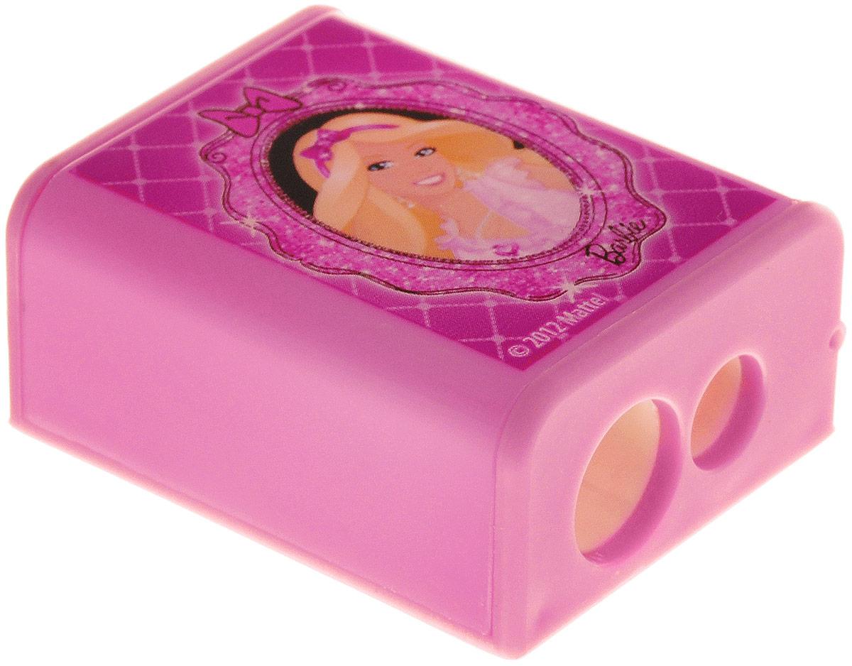Barbie Точилка с двумя отверстиями72523WDЯркая точилка Barbie с двумя отверстиями для цветных и чернографитных карандашей диаметром 8 мм и 11,5 мм поднимет настроение любому, кто возьмет ее в руки. Карандаш затачивается легко и аккуратно, а опилки после заточки остаются в специальном контейнере.Точилка оформлена изображением очаровательной Барби.