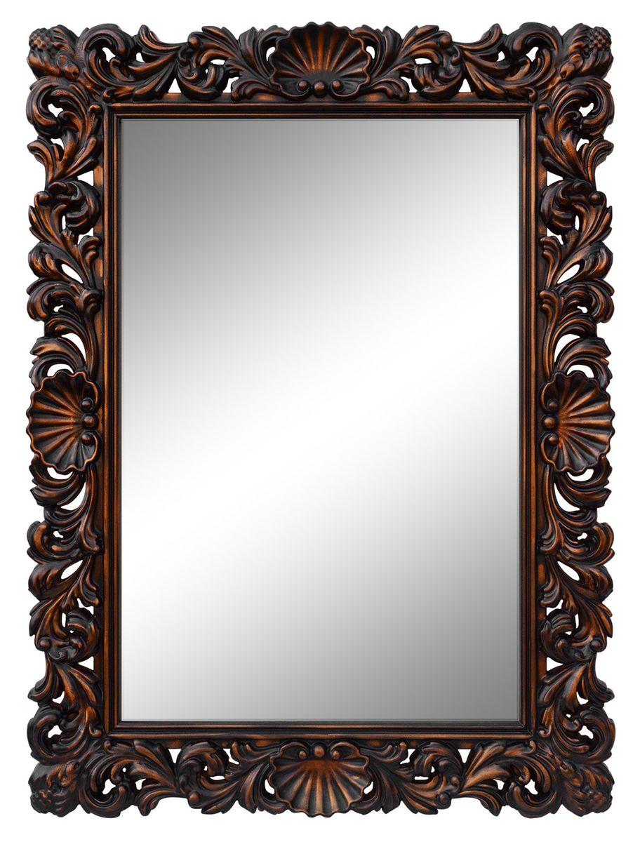 Зеркало VezzoLLi Рококо, цвет: коричневый, 117 х 87,5 см54 009312С обратной стороны зеркало снабжено тремя металлическими подвесами для возможности разместить его и вертикально и горизонтально.