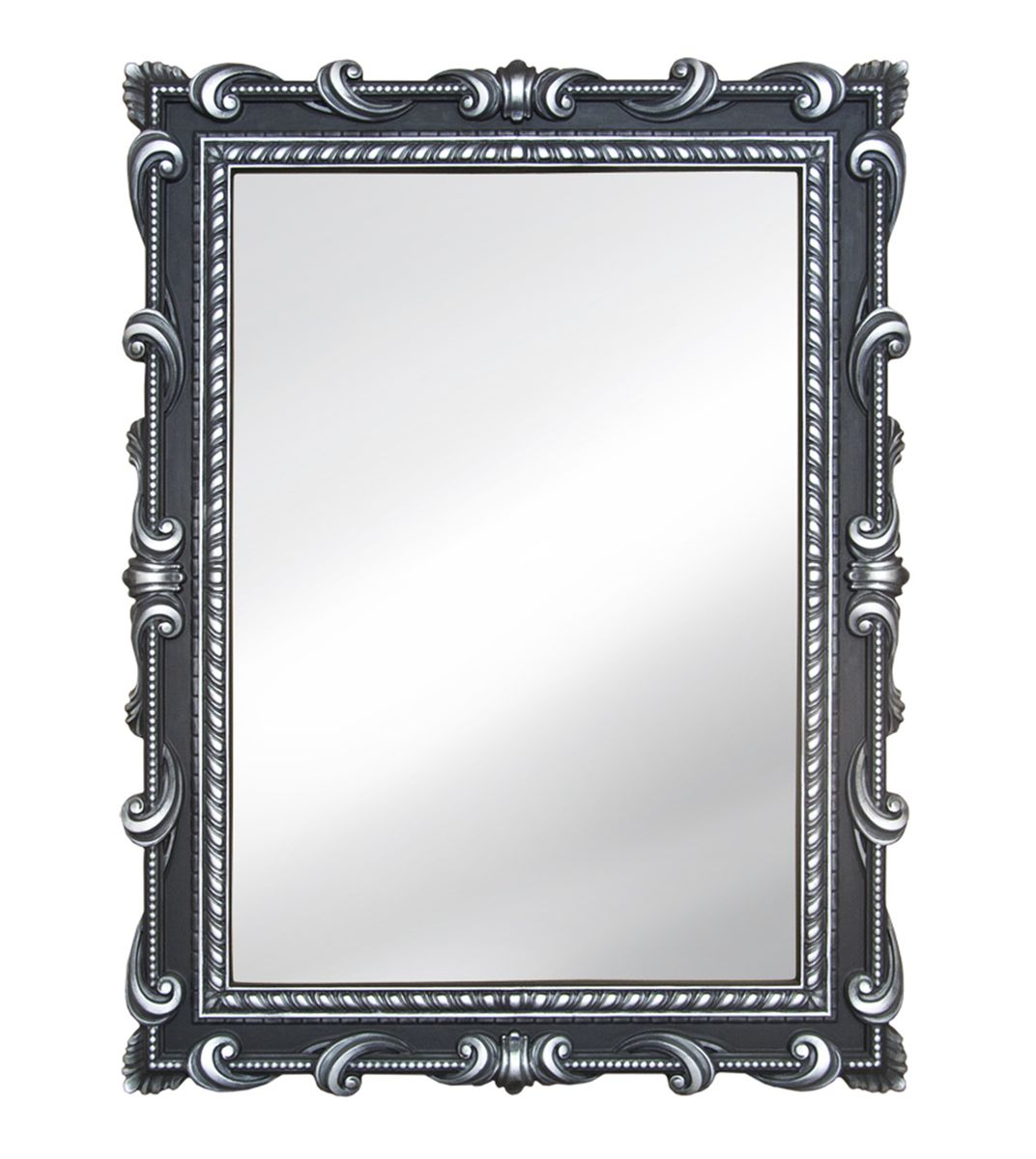 Зеркало VezzoLLi Тениа, цвет: черный, 94 х 72 смFS-80418С обратной стороны зеркало снабжено тремя металлическими подвесами для возможности разместить его и вертикально и горизонтально.