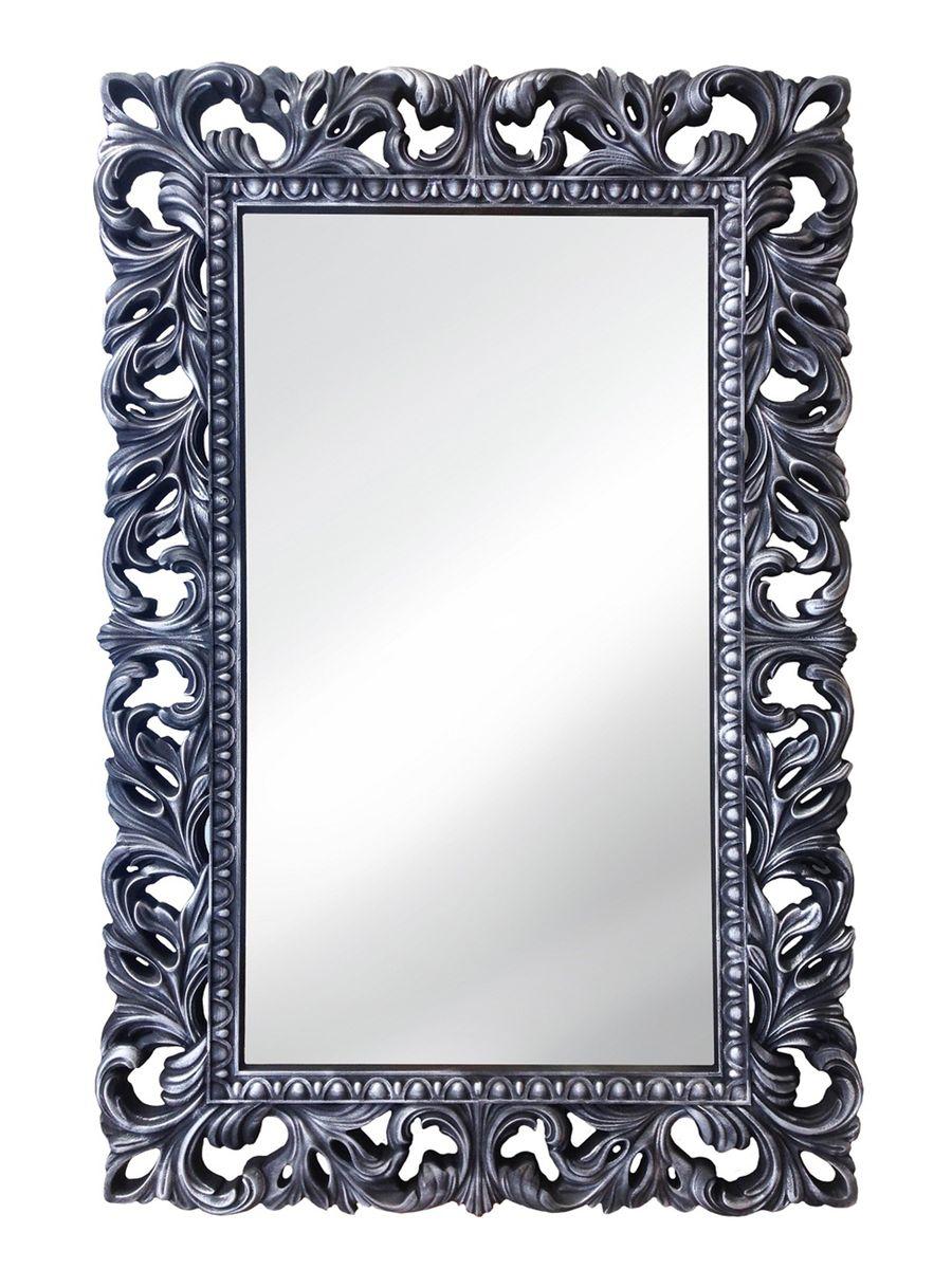 Зеркало VezzoLLi Лиа, цвет: черный, 95 х 63 см14-05С обратной стороны зеркало снабжено тремя металлическими подвесами для возможности разместить его и вертикально и горизонтально.