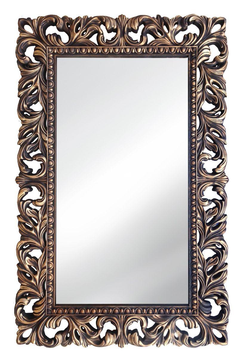 Зеркало VezzoLLi Италиа, цвет: коричневый, 115 х 75 смFS-91909С обратной стороны зеркало снабжено тремя металлическими подвесами для возможности разместить его и вертикально и горизонтально.