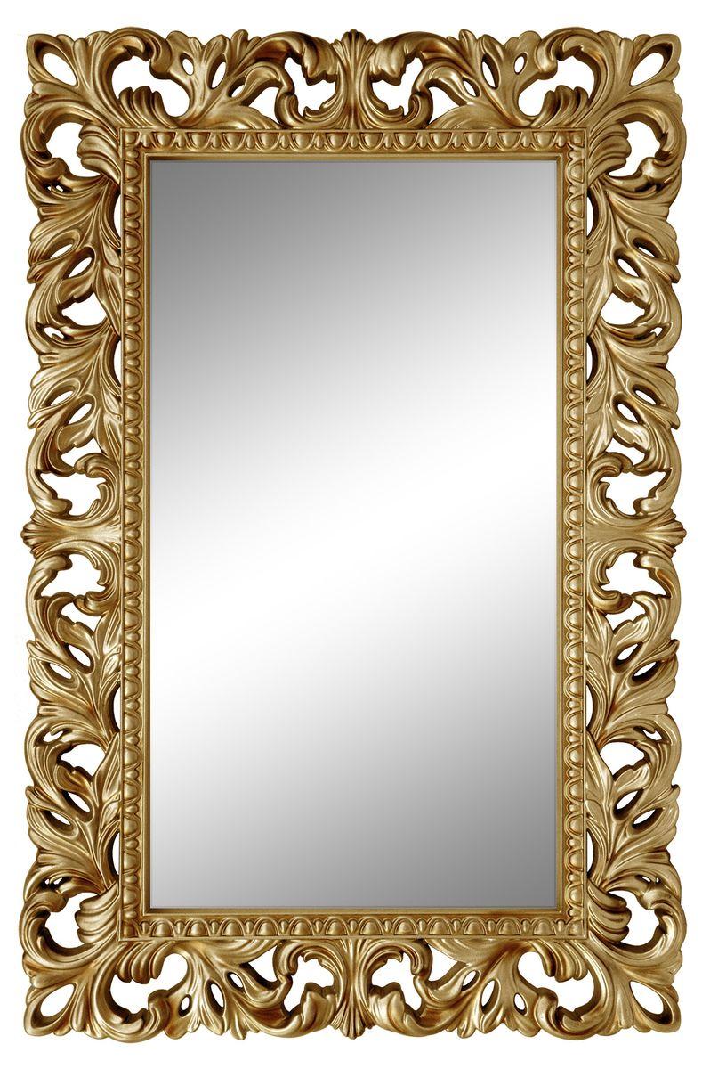 Зеркало VezzoLLi Италиа, цвет: золотой, 115 х 75 см229 Грим 10 белыйС обратной стороны зеркало снабжено тремя металлическими подвесами для возможности разместить его и вертикально и горизонтально.