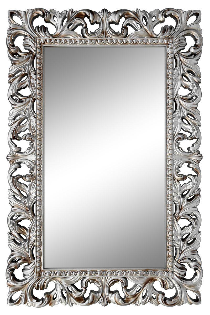 Зеркало VezzoLLi Италиа, цвет: серый металлик, 115 х 75 см11-21С обратной стороны зеркало снабжено тремя металлическими подвесами для возможности разместить его и вертикально и горизонтально.