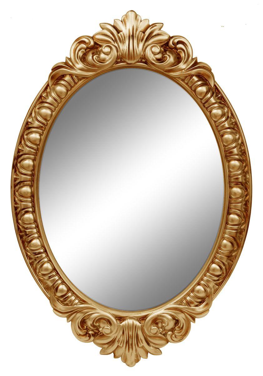 Зеркало настенное VezzoLLi Венеция, цвет: золотой, 104 х 72 см54 009312Настенное зеркало VezzoLLi Венеция добавит роскоши в интерьер любого помещения. Зеркало овальной формы имеет рельефную раму из пенополиуретана. Такое зеркало прекрасно подойдет для украшения дома.