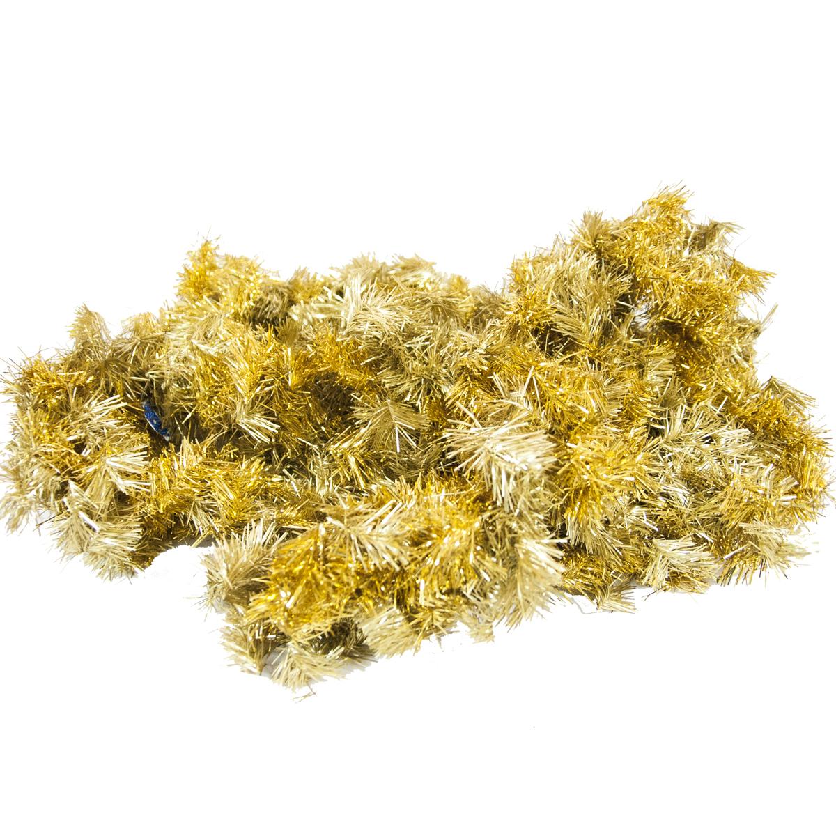 Гирлянда новогодняя хвойная  Moranduzzo , цвет: золотистый, диаметр 20 см, длина 275 см - Украшения