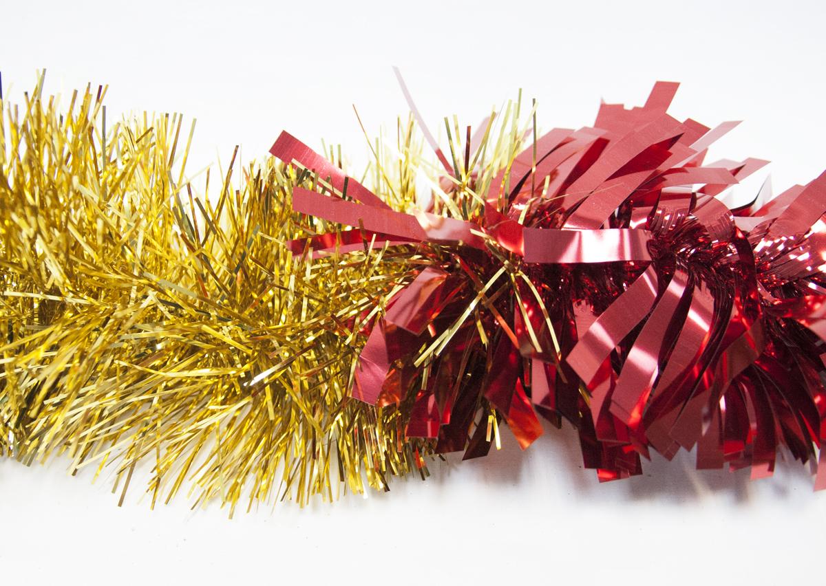 Гирлянда новогодняя Moranduzzo, цвет: красный, золотой, длина 2,5 мHZ23-0442S_серебристыйГирлянда 18 см/250 см, цвет: красный/золото Moranduzzo