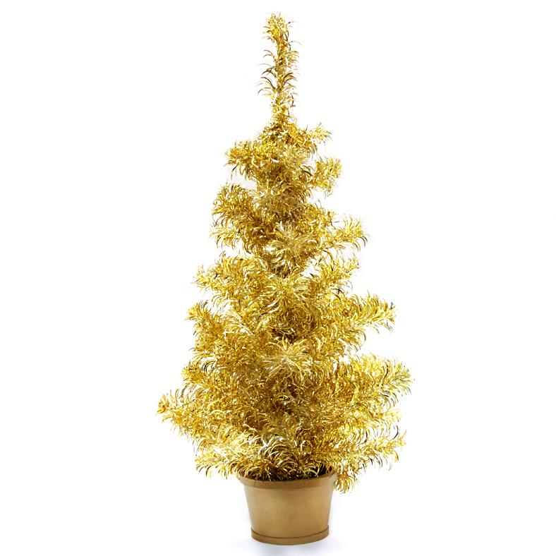Елка настольная  Weiste , цвет: серебряно-золотой, высота 80 см - Елки