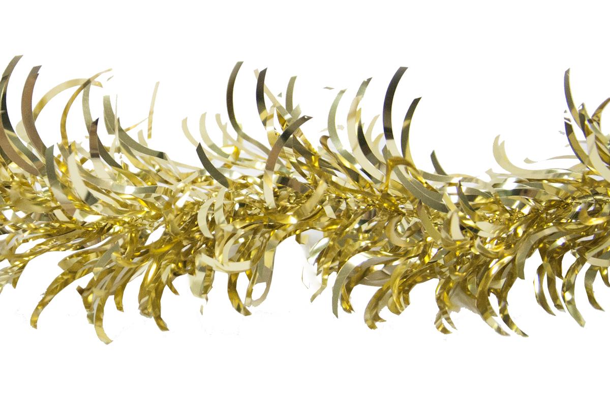Гирлянда новогодняя Weiste Перо, цвет: золотой, длина 2 мSL250 503 09Гирлянда ПЕРО 10смх2м, цвет золотой Weiste