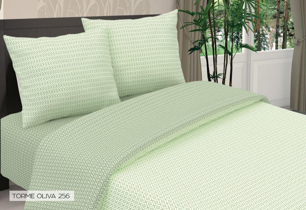 Комплект белья Seta Torme, евро, наволочки 70x70, цвет: зеленый комплект белья seta sabbia евро наволочки 70х70 цвет серый