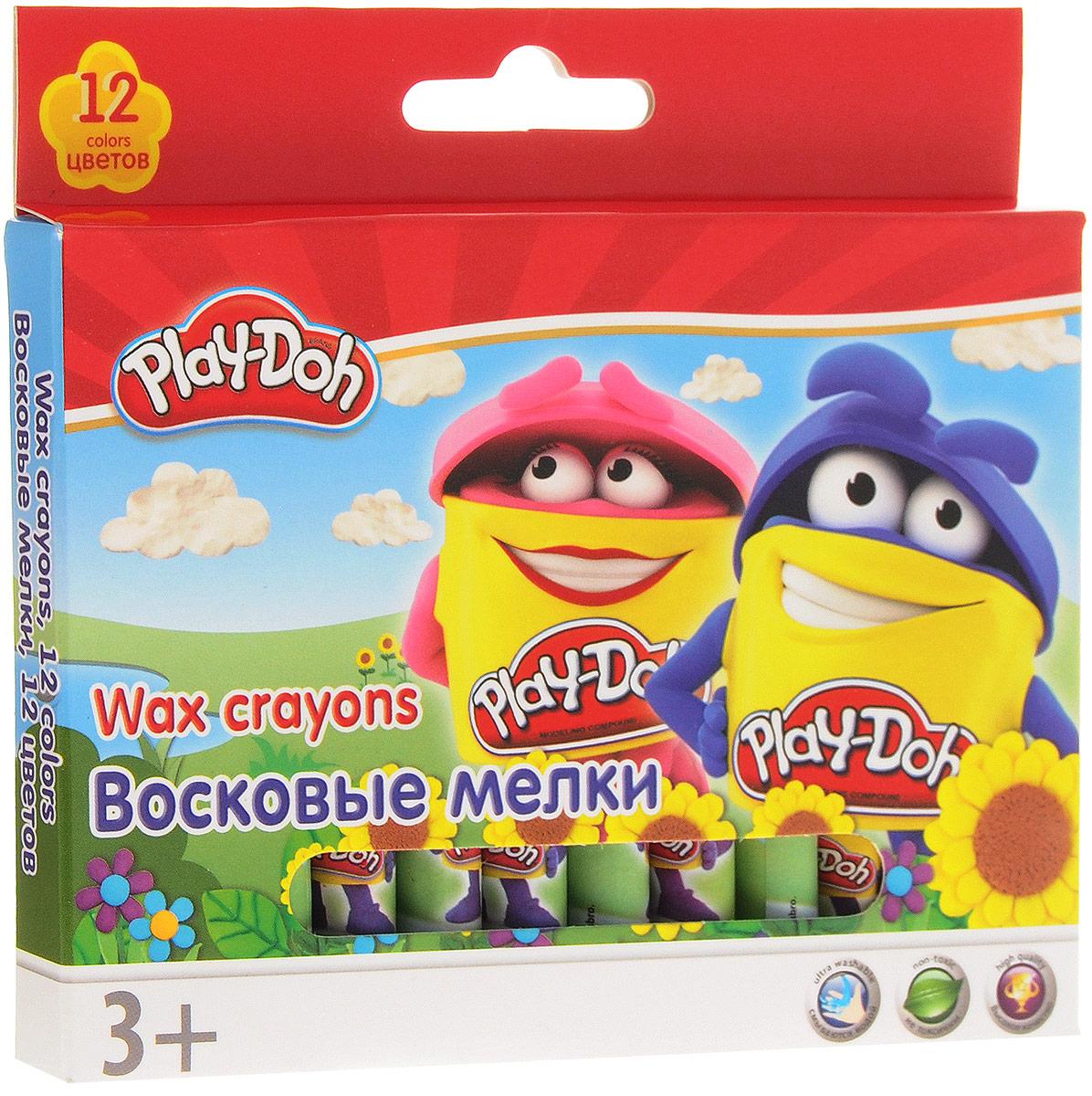 Play-Doh Набор восковых мелков 12 цветов0775B001Набор восковых мелков Play-Doh имеет насыщенные и сочные цвета.Мелки мягкие, не требуют сильного нажима. Стираются ластиком. Мелки самозатачиваются при рисовании. Не токсичны, безопасны. Каждый мелок имеет индивидуальную упаковку.Набор восковых мелков Play-Doh поможет раскрыть художественные способности, развить фантазию, усовершенствовать навыки рисования.