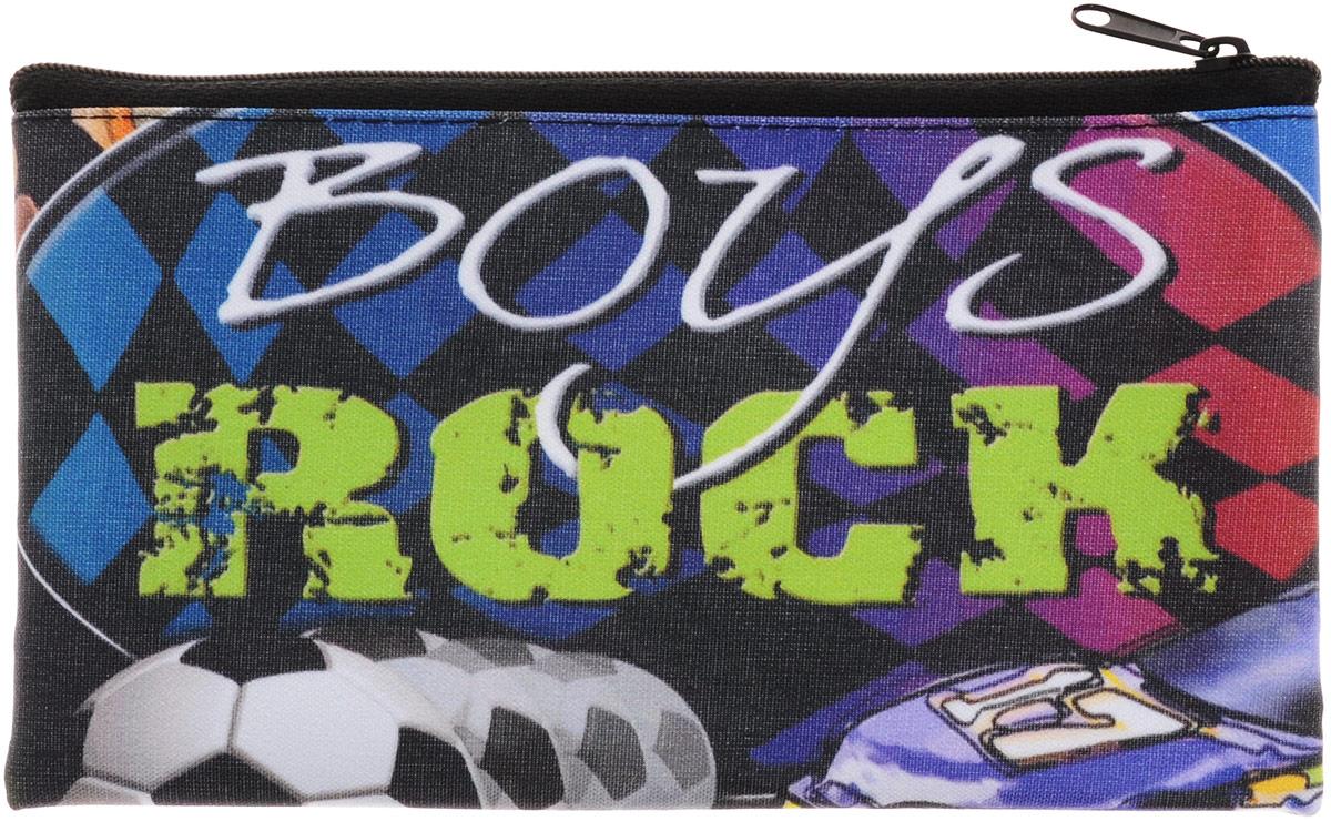 Centrum Пенал Boys Rock87172Пенал Centrum Boys Rock - незаменимая вещь в портфеле любого школьника.Изделие выполнено из плотного непромокаемого полиэстера, который надежно защит все школьные принадлежности в случае протекания чернил. Пенал имеет одно отделение, в него с легкостью поместится все необходимое. Аксессуар выполнен в темном цвете, закрывается на застежку-молнию, с обеих сторон декорирован оригинальным изображением.
