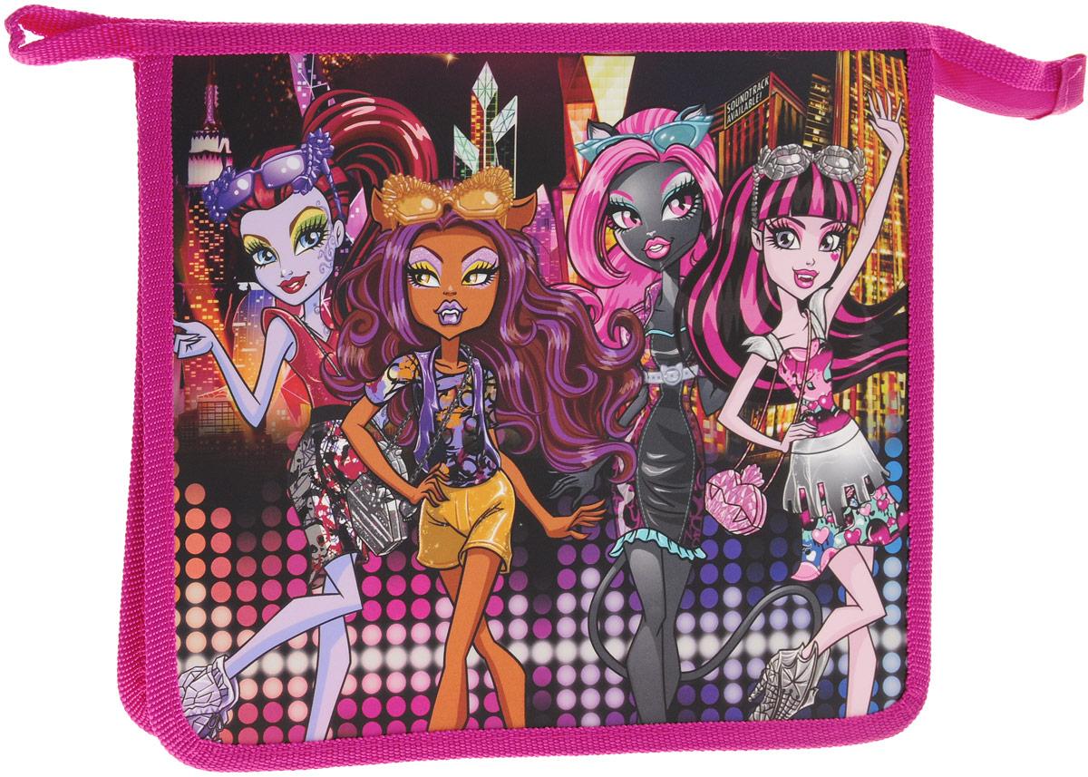 Centrum Папка для тетрадей Monster HighFS-36052Папка Centrum Monster High - это удобный и функциональный инструмент, который идеально подойдет для хранения различных бумаг формата А5, а также школьных тетрадей и письменных принадлежностей. Папка оформлена красочным изображениям героев мультфильма Monster High.Папка изготовлена из прочного полипропилена и надежно закрывается на застежку-молнию. Для удобства переноски папка оснащена петлей.Папка практична в использовании, надежно сохранит ваши бумаги и сбережет их от повреждений, пыли и влаги.