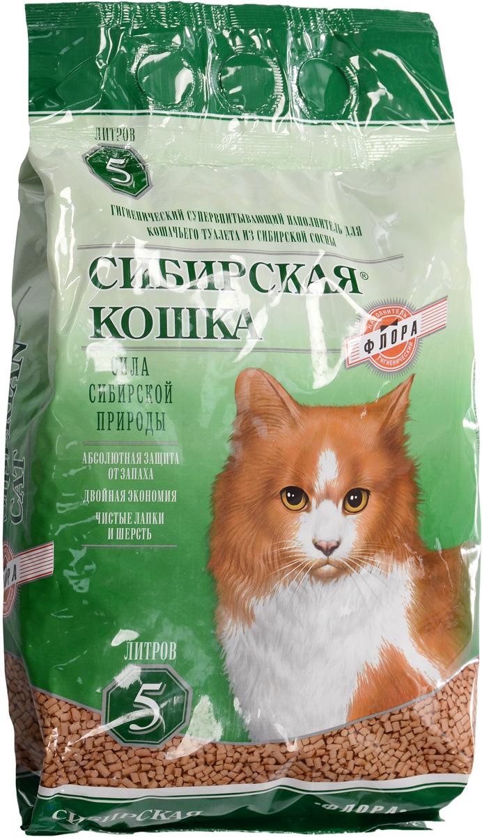 Наполнитель для кошачьих туалетов Сибирская кошка Флора, для кошек, древесный, 5 л0381Наполнитель для кошачьих туалетов Сибирская кошка Флора - экологически чистый супервпитывающий наполнитель. Производится из древесины хвойных пород, без каких либо добавок. Его действие основано на природных свойствах хвойных деревьев, поглощать влагу, запахи. Впитываемость составляет 260-320%), что в 3 раза превосходит показатели обычных наполнителей. Специально подобранный размер гранул (6 мм) позволяет более чем в 2 раза увеличить скорость впитывания влаги и запахов, а также в 1,5 раза уменьшить расход наполнителя по сравнению с другими древесными наполнителями.Наполнитель обладает естественным природным запахом хвои и не содержит искусственных ароматизаторов. Состав: стружка сибирской сосны. Размеры гранулы: 6 мм. Товар сертифицирован.