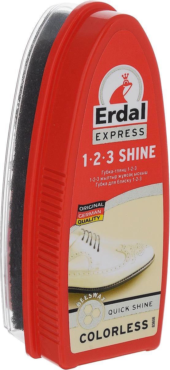 Губка-глянец для обуви Erdal, цвет: бесцветный, 75 млNTS-101C blueГубка-глянец Erdal с пчелиным воском в составе придаст обуви идеальный блеск без полировки. Подходит для всех видов кожи. Губка со специальной текстурой превосходно очищает швы, неровные материалы материалы и удаляет пыль. Подходит для гладкой и искусственной кожи.Товар сертифицирован.