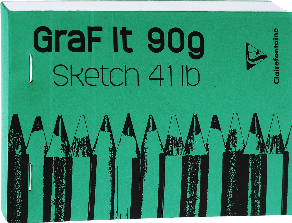 Блокнот Clairefontaine Graft It, на скобах, цвет: зеленый, 80 листов72523WDБлокнот на скобах Clairefontaine Graft It содержит 80 листов, выполненных из бумаги. Листы не разлинованы. Обложка выполнена из картона. Блокнот идеален для рисования и письма, также подойдет для эскизов и набросков.