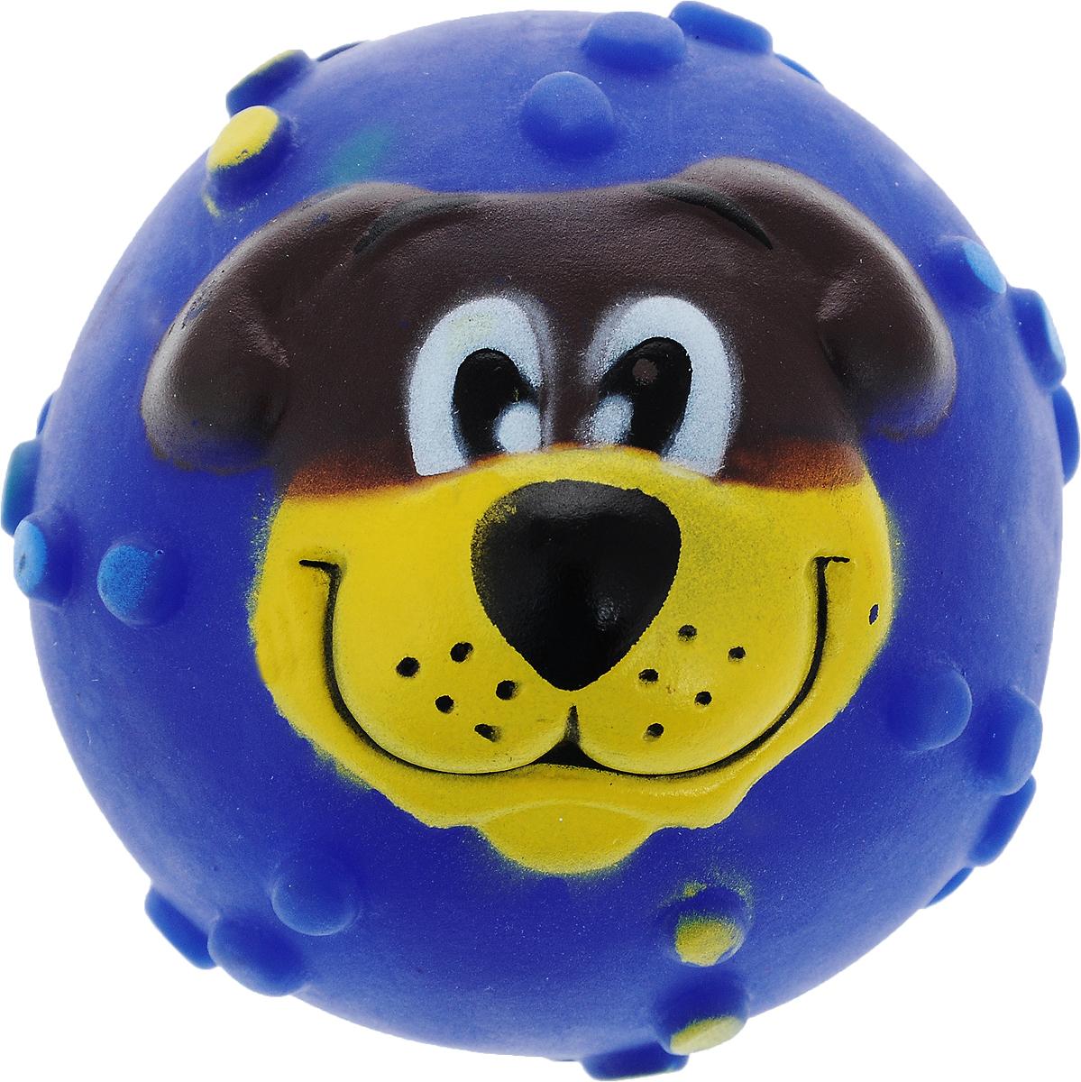 Игрушка для собак Каскад Мячик с мордочкой, с пищалкой, цвет: синий, диаметр 7 см27799330_голубойИгрушка Каскад Мячик с мордочкой изготовлена из прочной и долговечной резины, устойчивой к разгрызанию. Необычная и забавная игрушка прекрасно подойдет для собак, любящих игрушки с пищалками. Такая игрушка порадует вашего любимца, а вам доставит массу приятных эмоций, ведь наблюдать за игрой всегда интересно и приятно. Диаметр: 7 см.