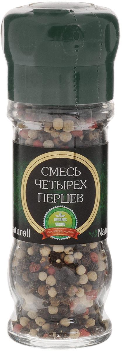 Naturell смесь четырех перцев в мельнице, 45 г24Смесь четырех перцев Naturell в мельнице - это четыре вида перца, которые придадут различным блюдам богатый вкус и аромат.