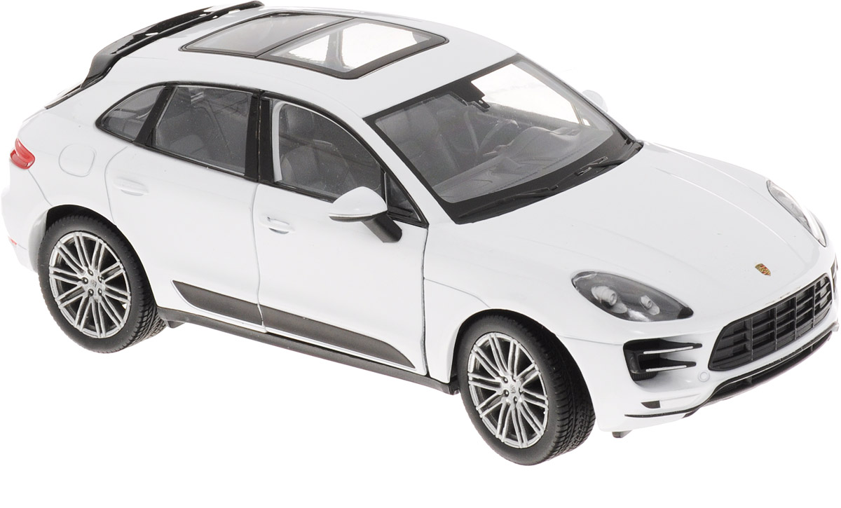 Welly Модель автомобиля Porsche Macan Turbo цвет белый масштаб 1:24