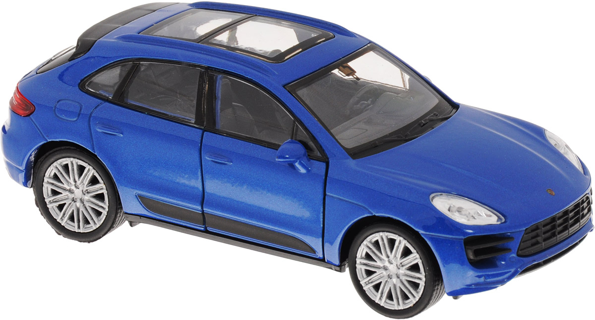 Welly Модель автомобиля Porsche Macan Turbo цвет синий welly модель автомобиля audi r8 v10 цвет красный