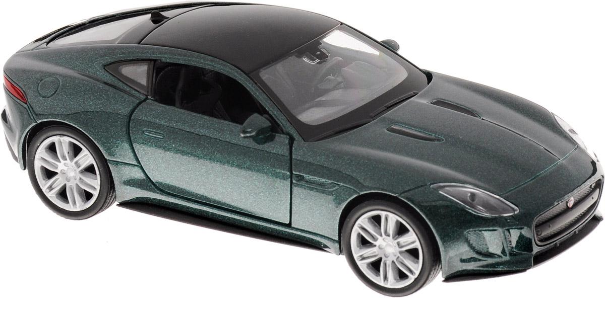 Welly Модель автомобиля Jaguar F-Type Coupe цвет темно-зеленый 1 18 bb машина сборка jaguar e coupe 1961 металл в закрытой упаковке 1