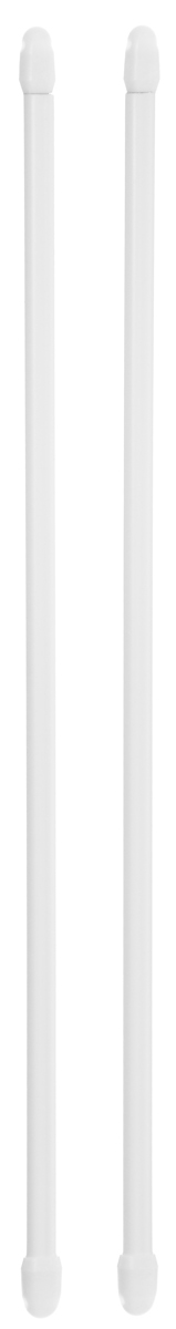 Штанга однорядная Эскар, металлическая, телескопическая, цвет: белый, длина 40-70 см, 2 шт33810Витражная штанга Эскар - это не только аксессуар для штор, но и элемент декора. Изделие выполнено из металла. Держатели штанг вкручиваются в раму в предварительно рассверленное отверстие.В комплект входят: 2 штанги, 4 крючка для крепления.Оригинальная и стильная штанга дополнит интерьер любой комнаты. Длина карниза: 40-70 см.