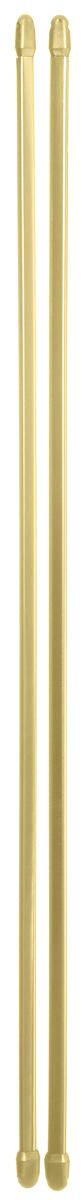 Штанга однорядная Эскар, металлическая, телескопическая, цвет: латунь, длина 60-90 см, 2 штшв_8942Витражная штанга Эскар - это не только аксессуар для штор, но и элемент декора. Изделие выполнено из металла. Держатели штанг вкручиваются в раму в предварительно рассверленное отверстие.В комплект входят: 2 штанги, 4 крючка для крепления.Оригинальная и стильная штанга дополнит интерьер любой комнаты. Длина карниза: 60-90 см.