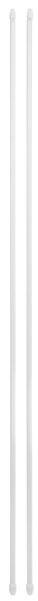 Штанга однорядная Эскар, металлическая, телескопическая, цвет: белый, длина 100-160 см, 2 шт403076Витражная штанга Эскар - это не только аксессуар для штор, но и элемент декора. Изделие выполнено из металла. Держатели штанг вкручиваются в раму в предварительно рассверленное отверстие.В комплект входят: 2 штанги, 4 крючка для крепления.Оригинальная и стильная штанга дополнит интерьер любой комнаты. Длина карниза: 100-160 см.