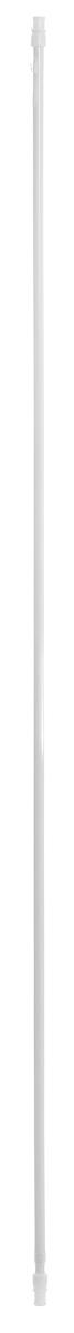Карниз однорядный Эскар Калифорния, металлический, телескопический, цвет: белый, диаметр 12 мм, длина 135-225 смRG-D31SКруглый карниз Эскар Калифорния выполнен из металла. Подходит для использования одного вида занавесей. Поверхность гладкая. Крепление производится на раму, при помощи держателей на двухсторонний скотч или саморезы. В комплект входят: карниз, 2 коротких кронштейна, 2 длинных кронштейна, 8 саморезов, 4 полоски двухстороннего скотча.Такой карниз будет органично смотреться в любом интерьере.Диаметр карниза: 12 мм.