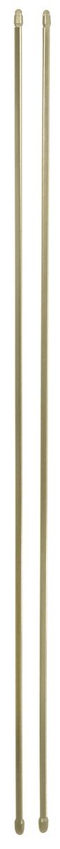 Штанга однорядная Эскар, металлическая, телескопическая, цвет: латунь, длина 100-160 см, 2 шт391602Витражная штанга Эскар - это не только аксессуар для штор, но и элемент декора. Изделие выполнено из металла. Держатели штанг вкручиваются в раму в предварительно рассверленное отверстие.В комплект входят: 2 штанги, 4 крючка для крепления.Оригинальная и стильная штанга дополнит интерьер любой комнаты. Длина карниза: 100-160 см.